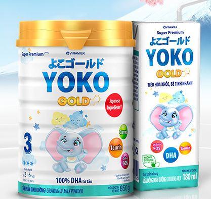 Sữa Yoko Gold pha sẵn cho bé trên 1 tuổi