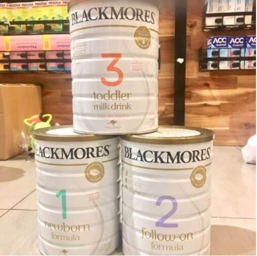 Sữa Blackmore Úc 1,2,3 phù hợp với tuổi phát triển của bé