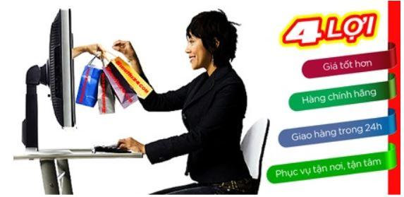 Mua hàng online mang đến nhiều lợi ích