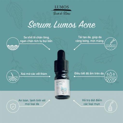 Công dụng của serum trị mụn Lumos Acne