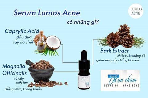 Serum Lumos Acne chứa dưỡng chất được chiết xuất từ tự nhiên lành tính