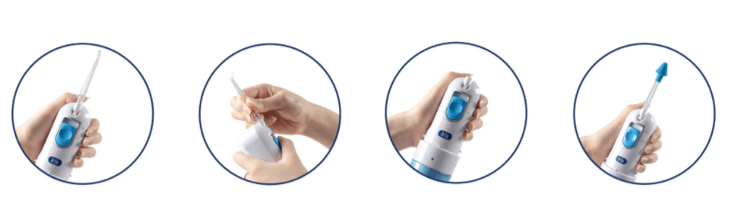 Cách lắp máy tăm nước Iris