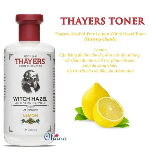 Thayers Lemon làm sạch da sâu, hạn chế mụn và cấp ẩm cho da
