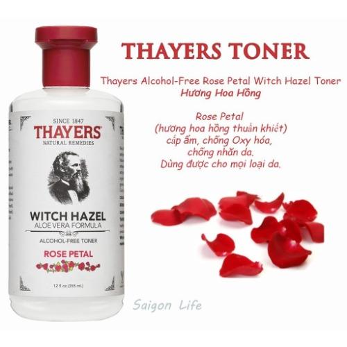 Toner Thayers Rose phù hợp với mọi loại da, kể cả da nhạy cảm