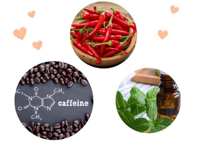 Hoạt chất caffeine, tinh dầu bạc và ớt giúp đánh tan mỡ thừa hiệu quả