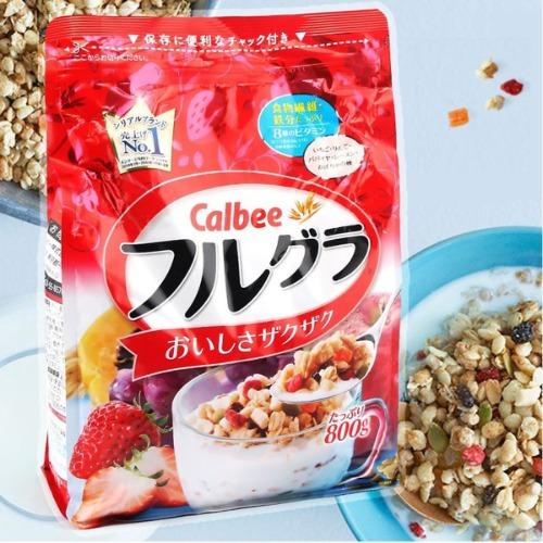 Ngũ cốc giúp giảm cân Calbee được sản xuất tại Nhật