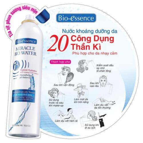 Công dụng của nước xịt khoáng Bio Essence