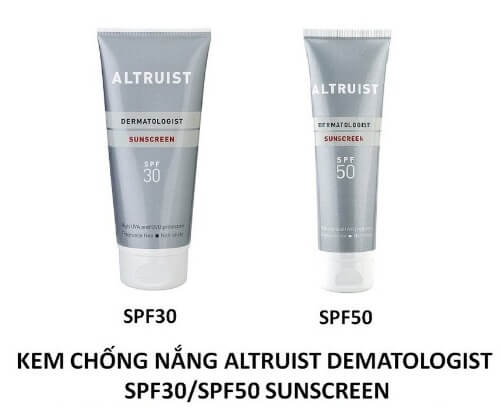 Kem chống nắng Altruist SPF 30, SPF 50