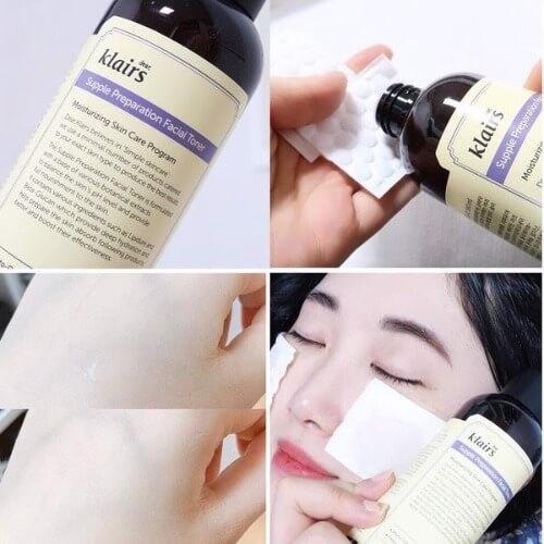 Sử dụng toner Klairs đúng cách giúp làm sạch da hiệu quả