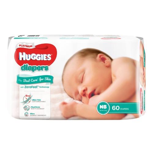 Bỉm Huggies platinum newborn được sản xuất dựa trên công nghệ ZEROFEEL™