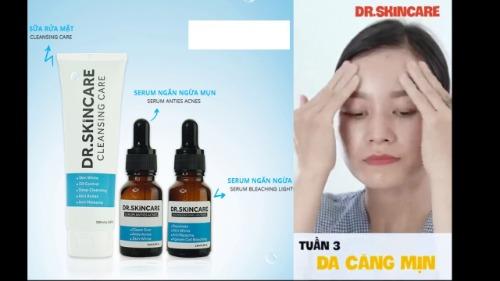 Dr Skincare giúp sạch sau 3 tuần
