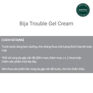 Cách thoa kem trị mụn Innisfree Bija Trouble