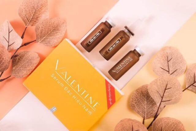 Serum trị nám Valentine chứa các dưỡng chất thiên nhiên lành tính với da