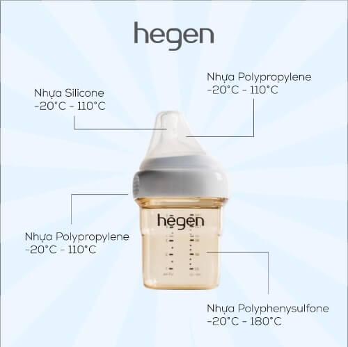 Hegen được làm từ nhựa PPSU cao cấp an toàn tuyệt đối với sức khỏe của con yêu