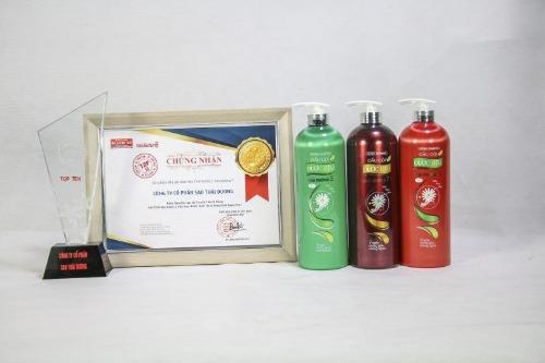 Dầu gội mọc tóc thái dương nhận được nhiều giải thưởng về chất lượng