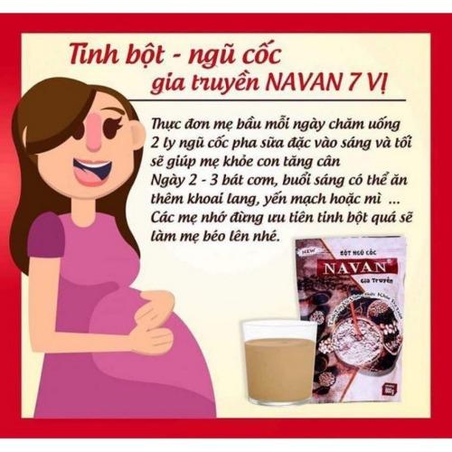 Bột ngũ cốc Navan gia truyền giúp mẹ kích sữa, lợi sữasau sinh