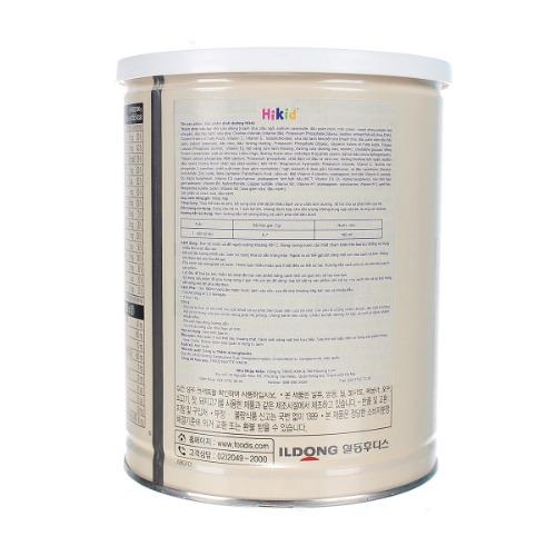 Hikid chứa các dưỡng chất thiết yếu