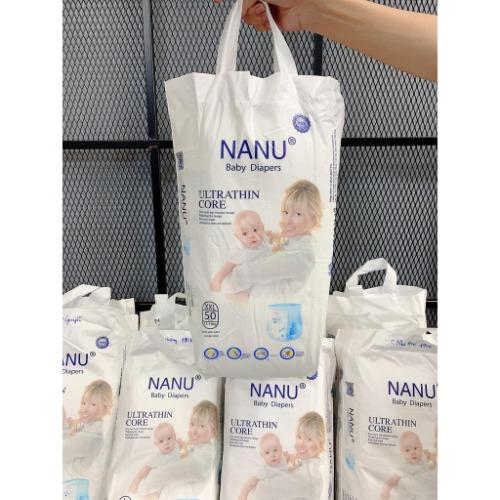 Bỉm trẻ em Nanu với đầy đủ các size cho bé
