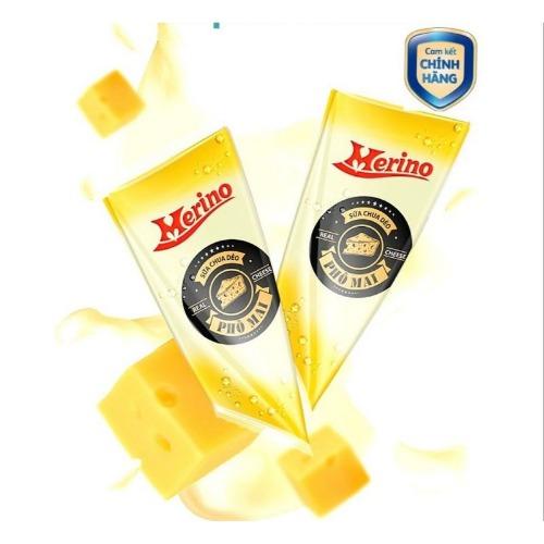 Sữa chua dẻo vị phô mai Merino có màu trắng, dẻo mịn, đặc sánh