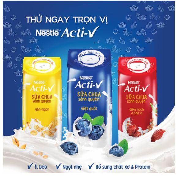 Acti-V mang đến 3 vị thơm ngon