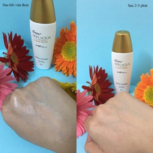 Kem chống nắng Sunplay Aqua Clear White kháng nước cực tốt