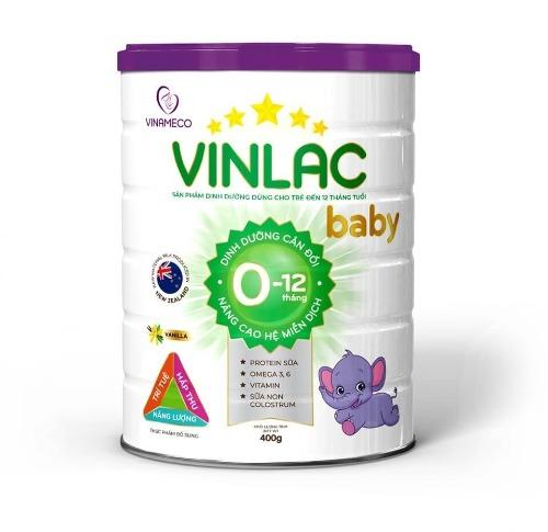 Sữa công thức Vinlac số 0 dành cho trẻ từ 0 đến 12 tháng tuổi