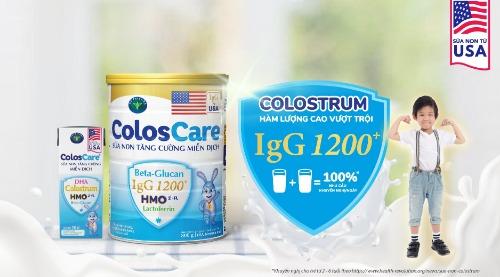 ColosCare - tăng cường hệ miễn dịch cho bé phát triển khỏe mạnh
