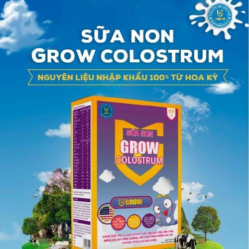 Grow Colostrum - thương hiệu sữa non nội địa tốt nhất Việt Nam