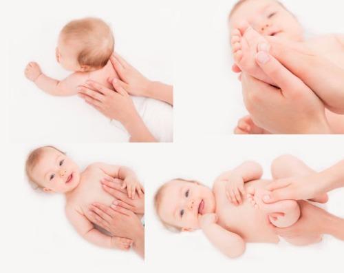 Massage - giúp lưu thông mạch máu, thư giãn cho bé