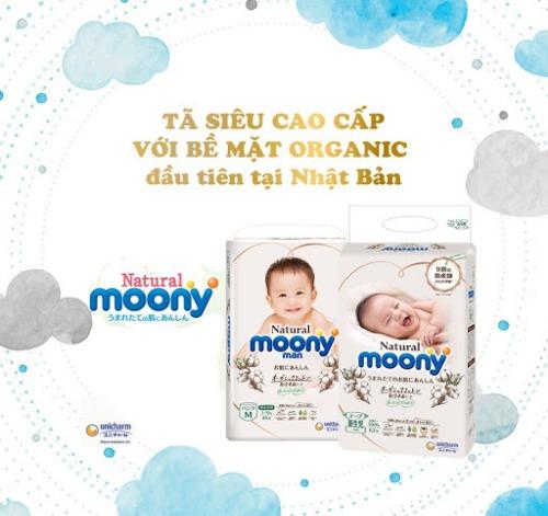 Moony - được thiết kế vạch báo thay tã tiện lợi