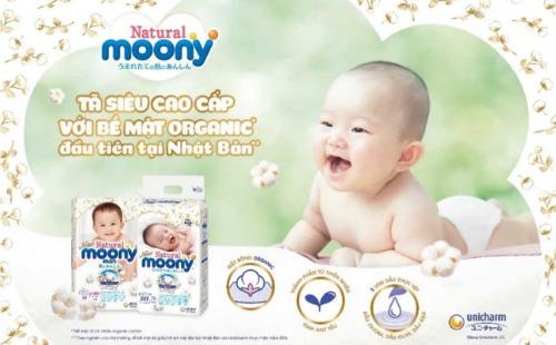 Moony - dòng bỉm organic đầu tiên tại nội địa Nhật