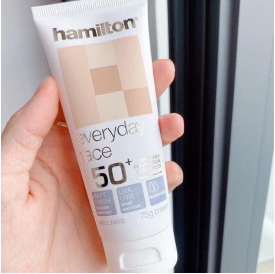 Kem chống nắng Hamilton Úc - chiết xuất từ thành phần lành tính cho da