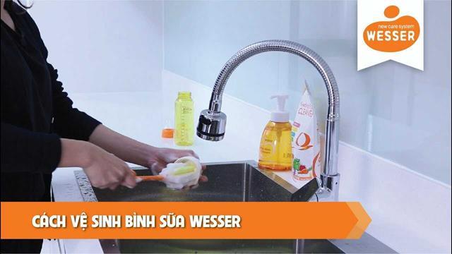 Cách vệ sinh bình sữa cho trẻ Wesser