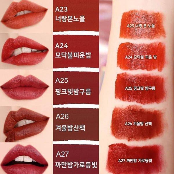 A26 mang sắc đỏ nâu ánh cam huyền bí