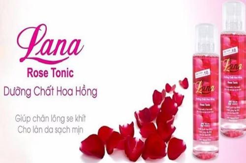Lana dòng nước hoa hồng giúp se khít lỗ chân lông và tái tạo da