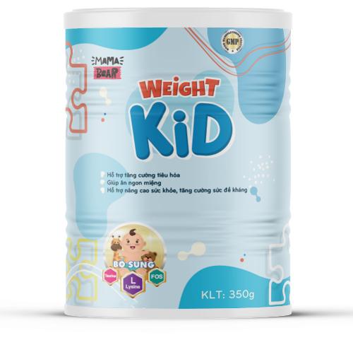 Weight Kid - dòng sữa chuyên tăng cân cho bé còi cọc, biến ăn