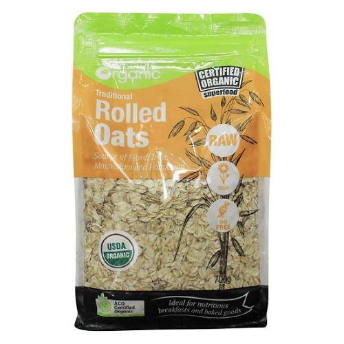 Rolled Oats được làm từ 100% yến mạch hữu cơ giàu dinh dưỡng