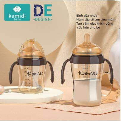 Bình sữa Kamidi có van chống sặc hiện đại