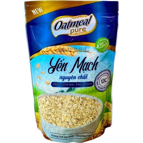 Oatmeal được làm từ 100% yến mạch nguyên chất, nguồn nguyên liệu sạch
