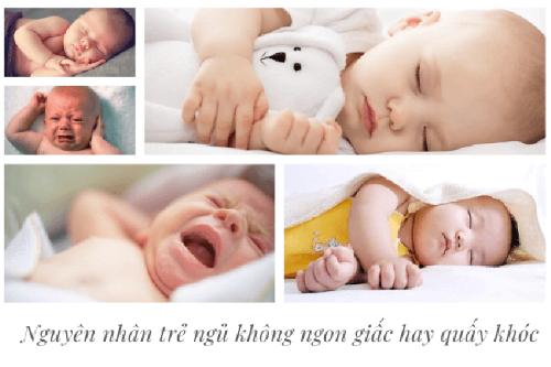 Bé ngủ không ngon giấc có thể do yếu tố sinh lý hoặc bệnh lý